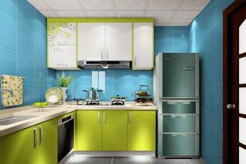 清新厨房搭配设计现代厨房装修图片