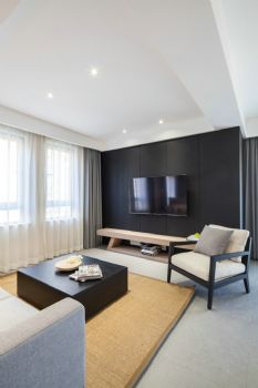 115平简约风格装修案例简约客厅装修图片