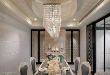 120平简欧风格装修案例简约餐厅装修图片