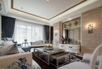 120平简欧风格装修案例简约客厅装修图片