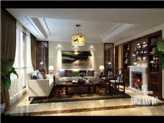 麓山国际中式风格案例欣赏中式客厅装修图片