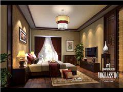 麓山国际中式风格案例欣赏中式卧室装修图片