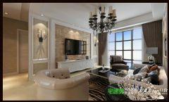 海顿公馆105平简欧风格三居室欧式客厅装修图片
