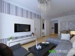 城市之光两室两厅87平现代风格现代餐厅装修图片