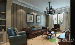凤凰城150平复式结构中式风格中式客厅装修图片