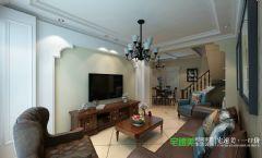 凤凰城150平复式结构中式风格中式风格复式