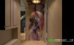 凤凰城150平复式结构中式风格中式玄关装修图片