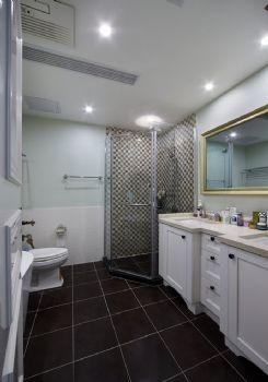 190平美式风格装修案例美式卫生间装修图片
