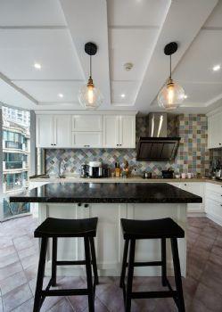 190平美式风格装修案例美式厨房装修图片