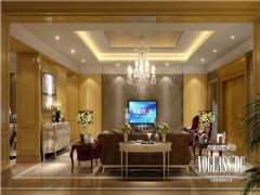设计师推荐美城悦荣府欧式风格案例欧式客厅装修图片