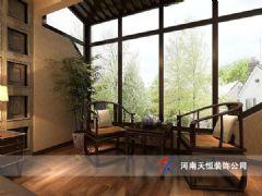 郑州别墅装修案例中式客厅装修图片