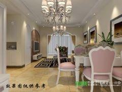 金浩仁和天地86平两室两厅简欧风格装修效果图欧式风格小户型