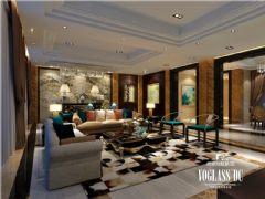 南湖国际七期新中式风格中式风格大户型