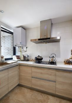 125平简单装修中式复式装修效果图中式厨房装修图片