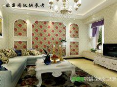 东方龙城甘棠苑88平两室两厅简欧风格装修效果图欧式风格小户型