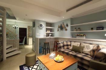 100平美式复式风格装修案例美式客厅装修图片