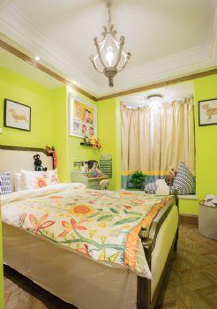 130平法式地中海风格装修案例地中海卧室装修图片