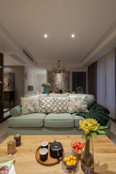 80平简约田园风格装修案例简约客厅装修图片