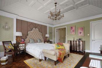 320平中式欧式装修效果图中式卧室装修图片