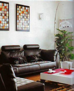 115平三居现代装修效果图现代客厅装修图片
