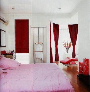 115平三居现代装修效果图现代卧室装修图片