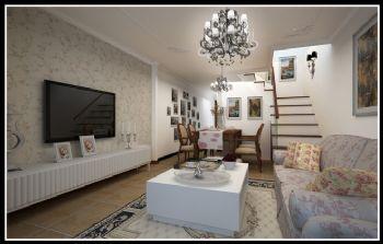 146平三居田园风设计图田园客厅装修图片
