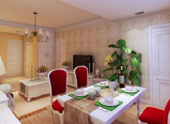84平二居田园风格设计图田园餐厅装修图片