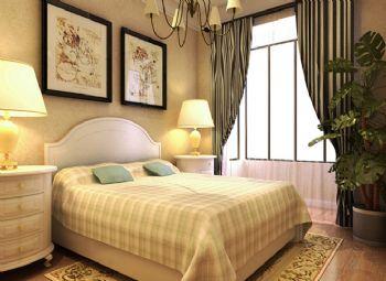 84平二居田园风格设计图田园卧室装修图片