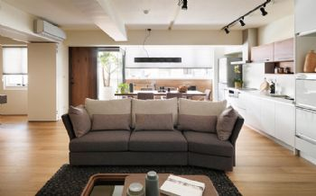 135平现代简约风格效果图现代客厅装修图片