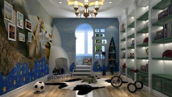 95平三居地中海风设计效果图书房装修图片