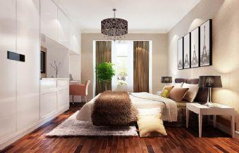 95平三居现代风装修效果图现代卧室装修图片