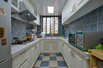 138平地中海风格装修案例厨房装修图片