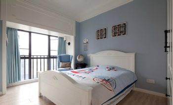 155平美式田园效果图美式卧室装修图片