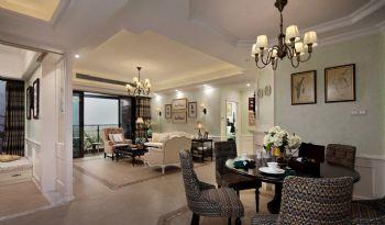 155平美式田园效果图美式客厅装修图片