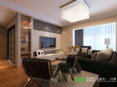 美加印象113平简约风格三居室案例简约客厅装修图片