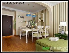 金浩仁和天地79平两室两厅田园风格装修效果图田园餐厅装修图片