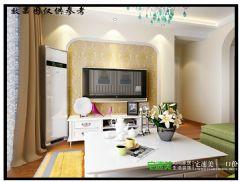 金浩仁和天地79平两室两厅田园风格装修效果图田园风格小户型