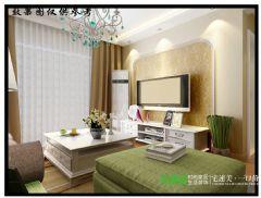 金浩仁和天地79平两室两厅田园风格装修效果图田园客厅装修图片