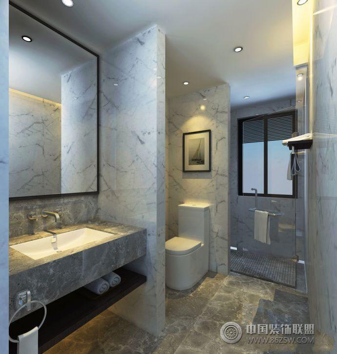 整体布局设计卫生间效果图-卫生间装修图片
