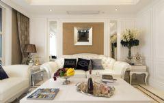 东莞松山湖别墅欧式风格设计现代客厅装修图片