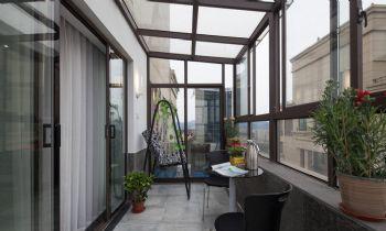 115平现代简约装修效果图现代阳台装修图片