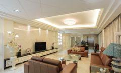 观澜湖别墅欧美风格装修案例欣赏东南亚客厅装修图片
