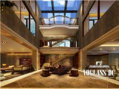 万科西岭中式风格案例中式客厅装修图片