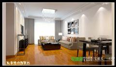 伟星幸福里103平三室两厅现代简约风格装修效果图现代简约客厅装修图片