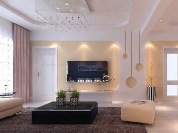 黑白电视背景墙设计图-客厅装修效果图-八六(中国)