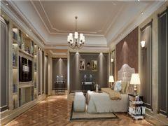 蔚蓝卡地亚(华阳)美式风格装修案例美式卧室装修图片