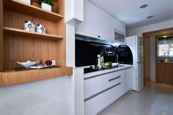 96平简约实木演绎现代装修图片简约厨房装修图片