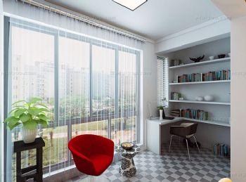 阳台华丽变身时尚实用书房案例欣赏书房装修图片