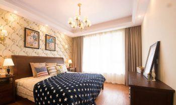 135平美式田园设计图片卧室装修图片