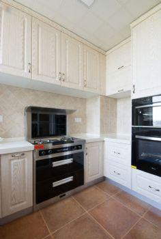 135平美式田园设计图片厨房装修图片
